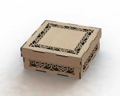 Laser Cut Box with Lid Template DXF File