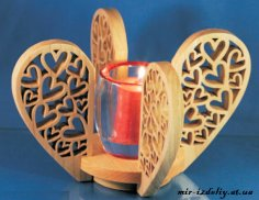 Heart Candle Center Piece PDF File
