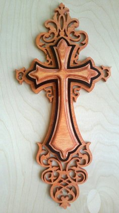 Wall Cross Plywood Laser Cut PDF File