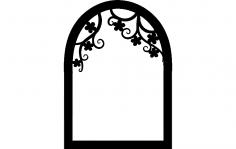 Flower window silhouettte dxf File