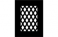 Lattice Card dxf File