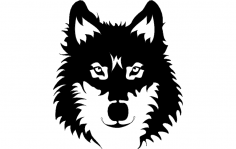 Wolf Face dxf File