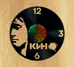 Tsoy V Vinyl Record DIY Clock CDR File