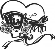 Horse and buggy Free Vector