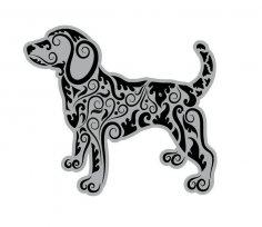 Mandala Style Dog Free Vector
