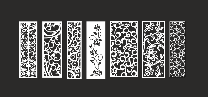 Collection CNC Vector Art Patterns Free Vector