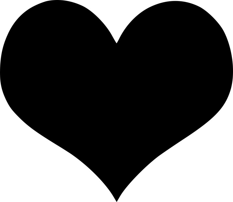 Heart black shape icon Free Vector