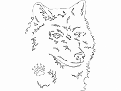 Wolf Head dxf File