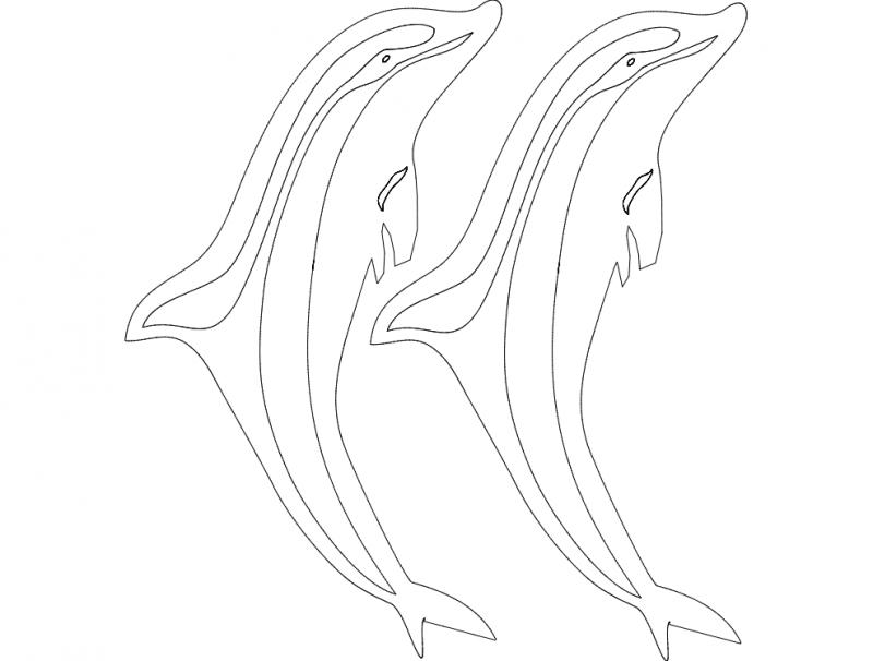 Golfinho 61×65 dxf File