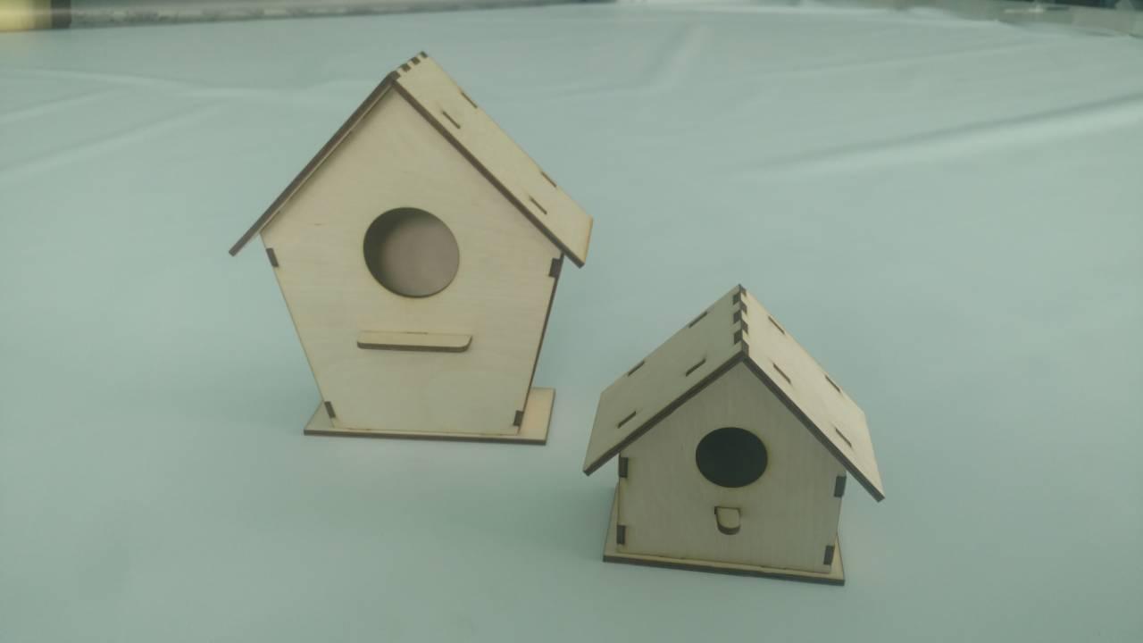 Laser Cut Birdhouse DXF File