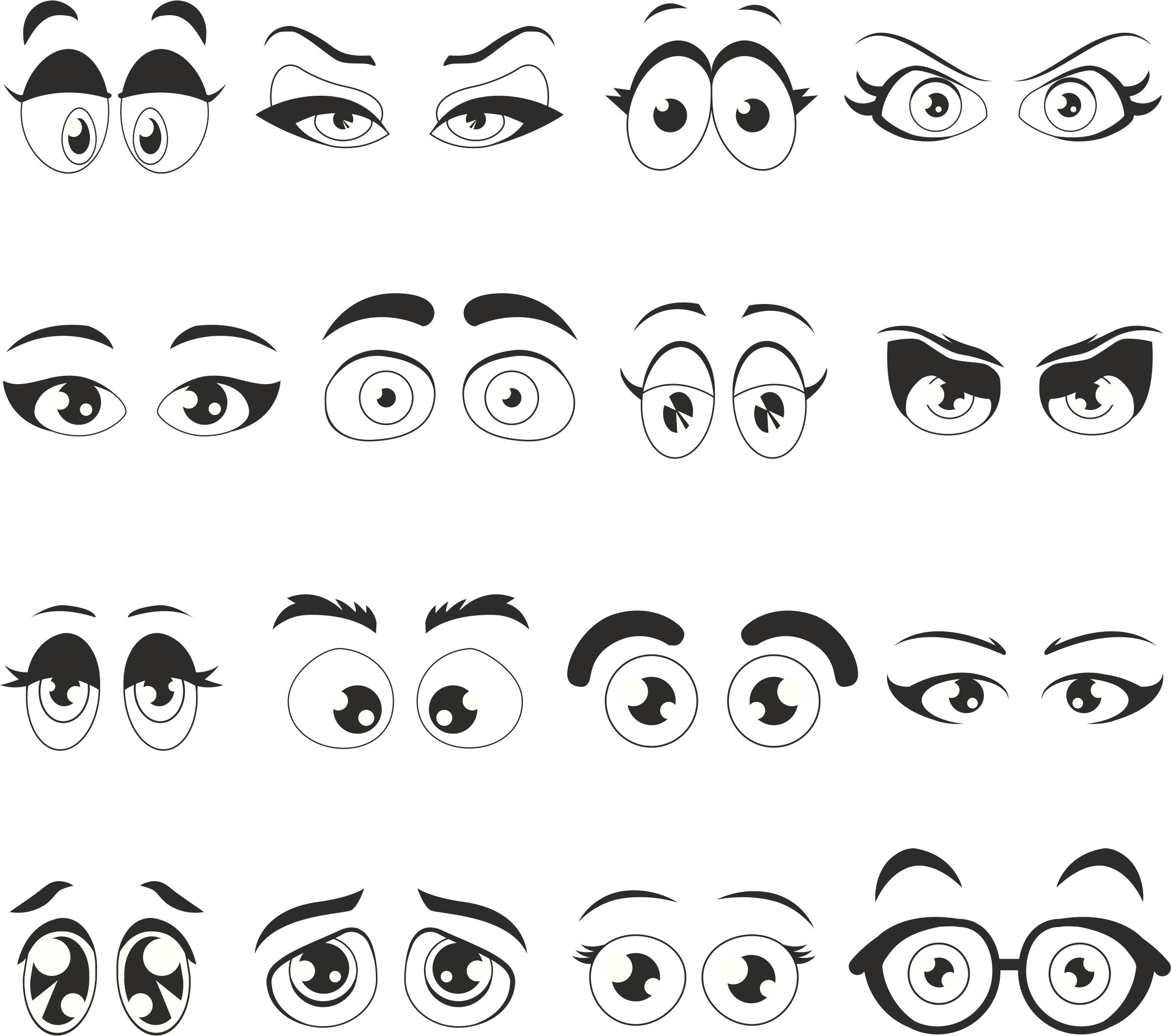 Cartoon Eyes Free Vector