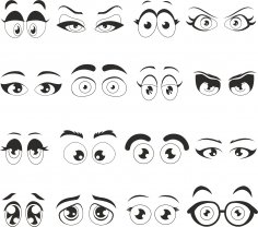 Cartoon Eyes Free Vector