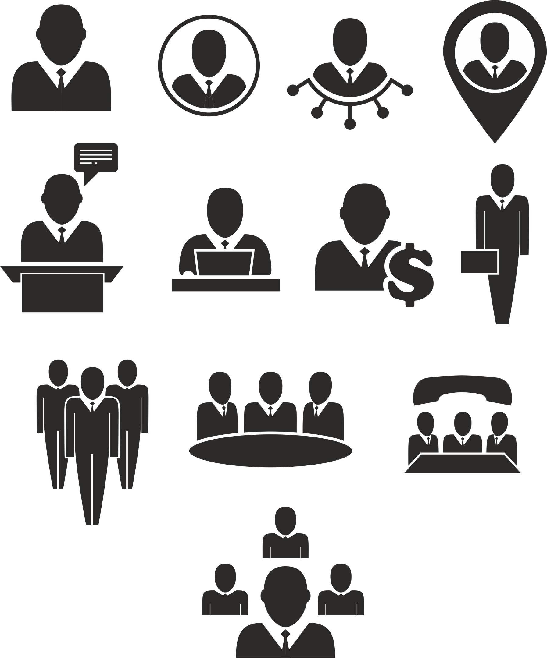 Meeting Icons Free Vector