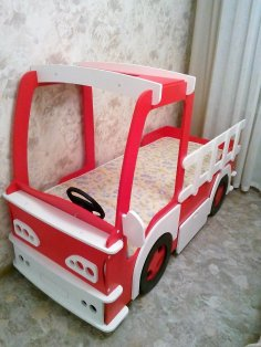 Car Kids Bed Laser Cut