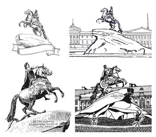 The Bronze Horseman – Mednyi Vsadnik Free Vector