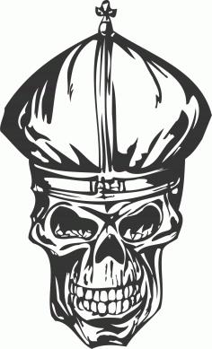 Cool Skull DXF File