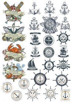Sea Emblems Free Vector