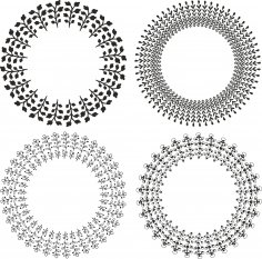 Mandala Wreath Free Vector