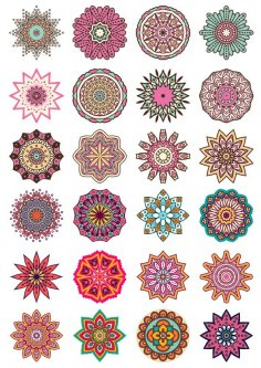 Round Ornaments Free Vector