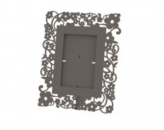Flowers Picture Frame Laser Cut Free Vector