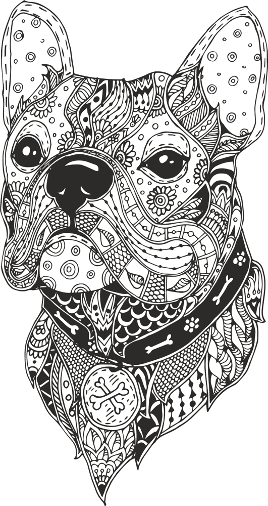 Dog Head Line Drawing Vector Free Vector