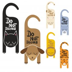 Do Not Disturb Sign Vector Art CDR File