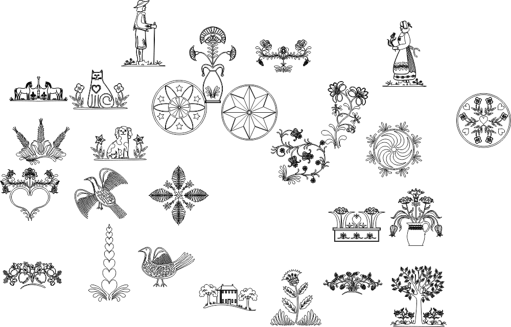 Nature Drawings Free Vector