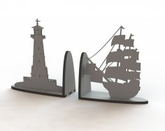 Ship Book Support Laser Cut Free Vector