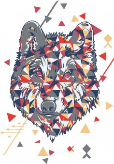 Wolf Tshirt Design CDR File