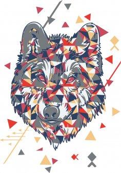 Wolf Tshirt Design Free Vector