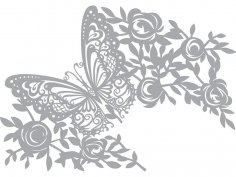 Pronty Mask stencil Butterfly CDR File