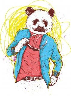 Panda Bear Print CDR File