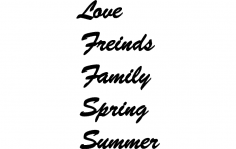 love friends family spring summer dxf File