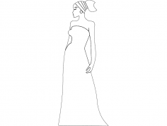African Woman dxf File