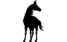 Horse Standing dxf File