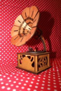 Grammofon 3d Puzzle Vector dxf File