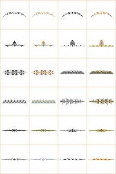 Design Ornamet Corners And Borders Vector Set CDR File