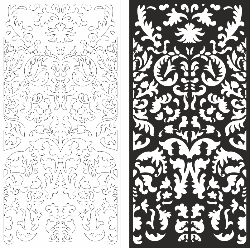 Swirly Ornament Seamless Vector Pattern CDR File