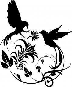 Bird Swirl Vector Art Free Vector
