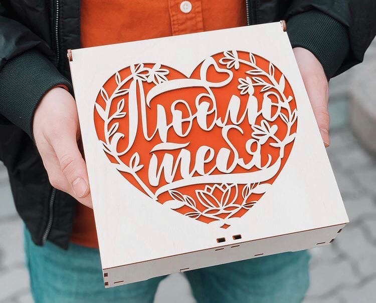 Laser Cut Christmas Chocolate And Candy Box 200x200x60 SVG File