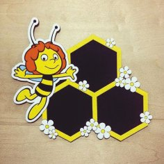 Laser Cut Bee Photo Frame Honeycomb Picture Frames Hexagon Frames Free Vector