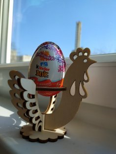 Laser Cut Wooden Easter Egg Stand Party Decoration Free Vector