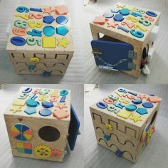 Laser Cut Kids Baby Educational Toys Wooden Building Blocks Toys Free Vector
