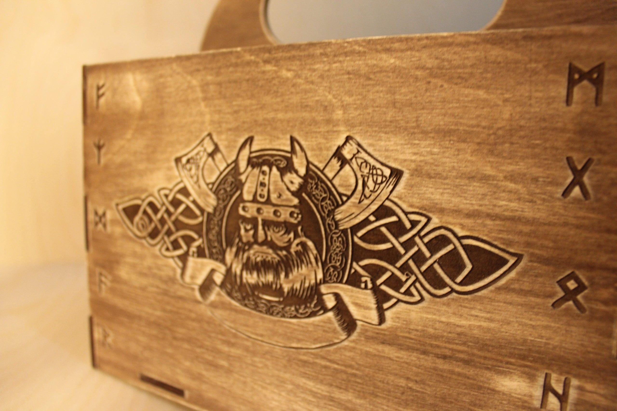 Laser Cut Viking Box Beer Gift Box Beer Caddy Free Vector