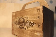 Laser Cut Viking Box Beer Gift Box Beer Caddy Free Vector