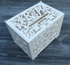 Laser Cut Wedding Card Box Party Decorations Wooden Wedding Money Box Free Vector
