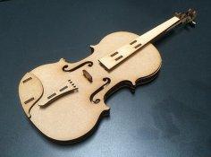 Laser Cut Violin Plywood Free Vector