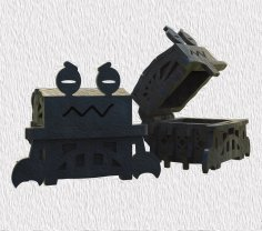 Laser Cut Wooden Crab Shape Box 4mm Free Vector
