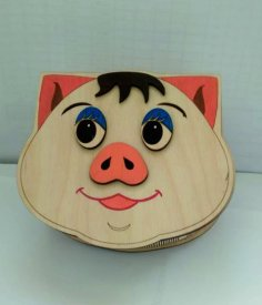 Laser Cut Pig Storage Box DXF File