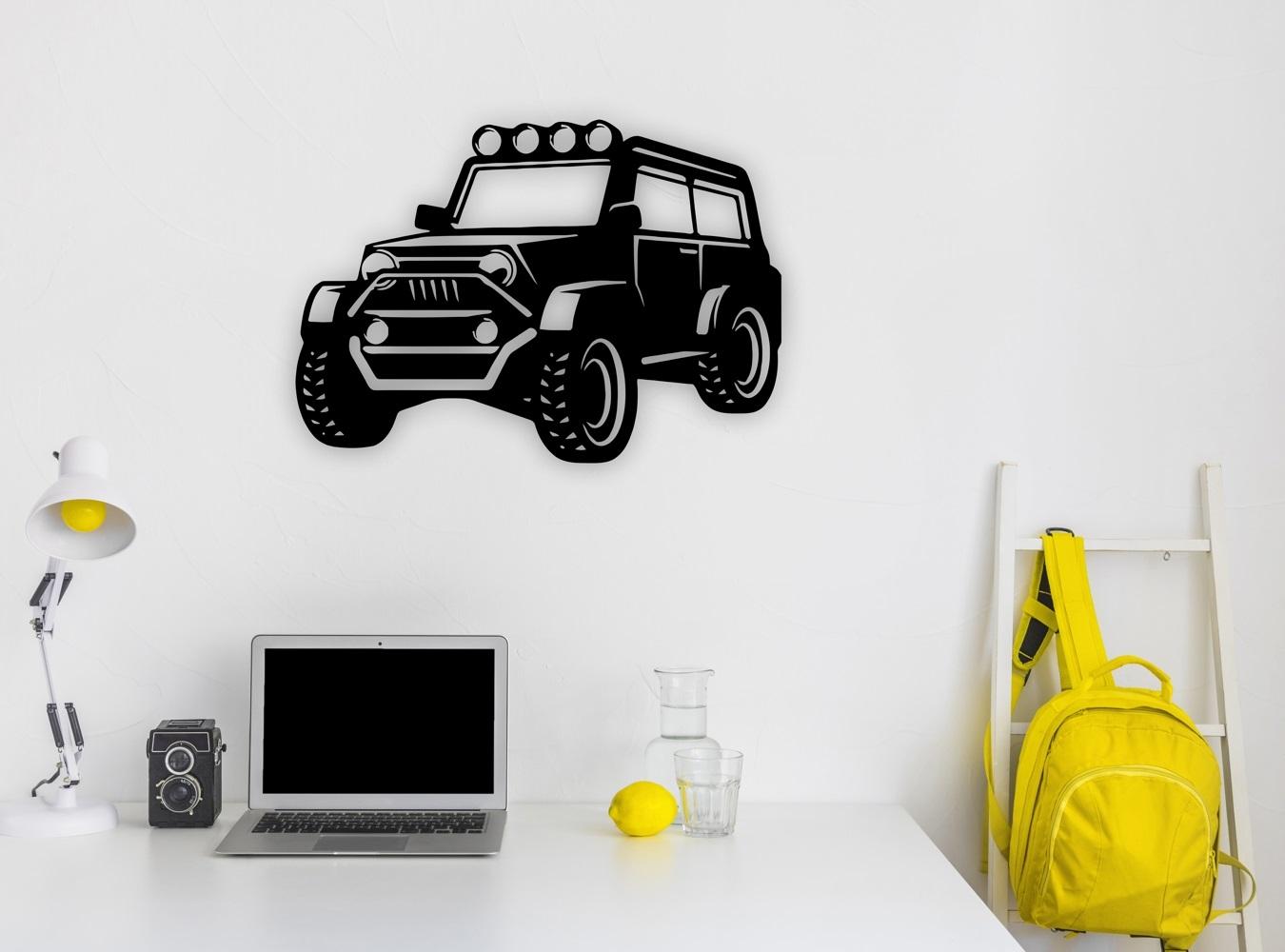 Laser Cut Jeep Wall Art Free Vector